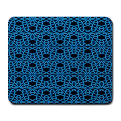 Triangle Knot Blue And Black Fabric Large Mousepads