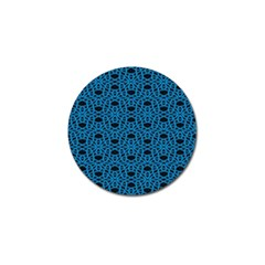 Triangle Knot Blue And Black Fabric Golf Ball Marker (4 Pack)