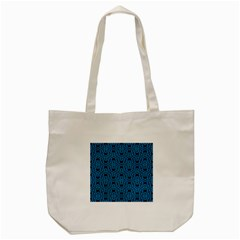 Triangle Knot Blue And Black Fabric Tote Bag (cream) by BangZart