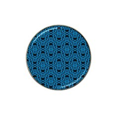 Triangle Knot Blue And Black Fabric Hat Clip Ball Marker (4 Pack)