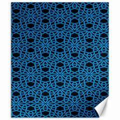 Triangle Knot Blue And Black Fabric Canvas 20  X 24
