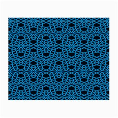Triangle Knot Blue And Black Fabric Small Glasses Cloth (2 Side)