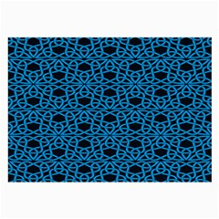 Triangle Knot Blue And Black Fabric Large Glasses Cloth (2 Side)