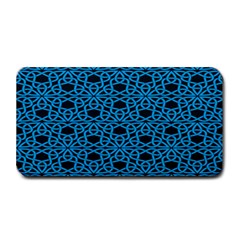 Triangle Knot Blue And Black Fabric Medium Bar Mats