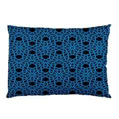 Triangle Knot Blue And Black Fabric Pillow Case by BangZart