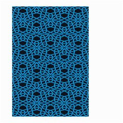 Triangle Knot Blue And Black Fabric Small Garden Flag (two Sides)