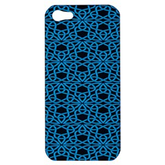 Triangle Knot Blue And Black Fabric Apple Iphone 5 Hardshell Case