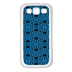 Triangle Knot Blue And Black Fabric Samsung Galaxy S3 Back Case (white)