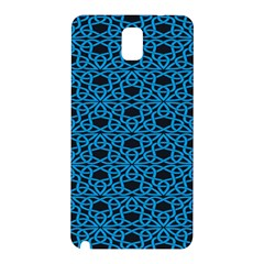 Triangle Knot Blue And Black Fabric Samsung Galaxy Note 3 N9005 Hardshell Back Case