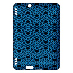 Triangle Knot Blue And Black Fabric Kindle Fire Hdx Hardshell Case