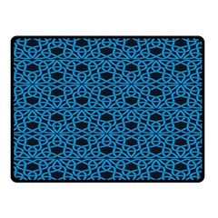 Triangle Knot Blue And Black Fabric Double Sided Fleece Blanket (small)  by BangZart