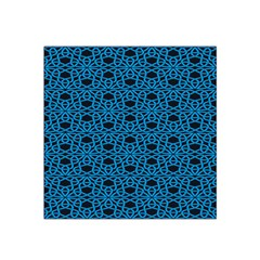 Triangle Knot Blue And Black Fabric Satin Bandana Scarf