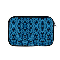 Triangle Knot Blue And Black Fabric Apple Macbook Pro 13  Zipper Case