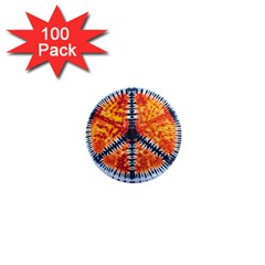 Tie Dye Peace Sign 1  Mini Magnets (100 Pack)