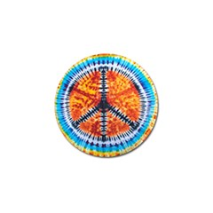 Tie Dye Peace Sign Golf Ball Marker (10 Pack)