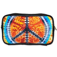 Tie Dye Peace Sign Toiletries Bags 2 Side