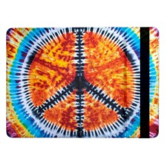 Tie Dye Peace Sign Samsung Galaxy Tab Pro 12 2  Flip Case