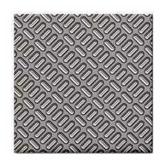 Grey Diamond Metal Texture Tile Coasters