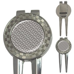 Grey Diamond Metal Texture 3 In 1 Golf Divots