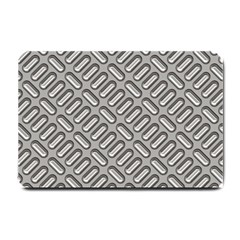 Grey Diamond Metal Texture Small Doormat  by BangZart