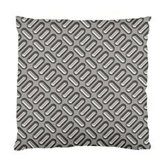 Grey Diamond Metal Texture Standard Cushion Case (one Side)