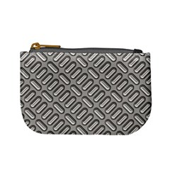Grey Diamond Metal Texture Mini Coin Purses