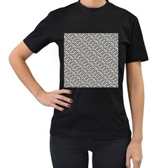 Grey Diamond Metal Texture Women s T Shirt (black)