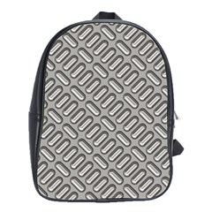 Grey Diamond Metal Texture School Bags(large)
