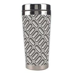 Grey Diamond Metal Texture Stainless Steel Travel Tumblers