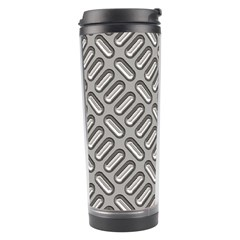 Grey Diamond Metal Texture Travel Tumbler by BangZart