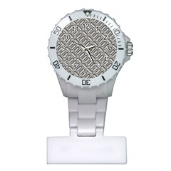Grey Diamond Metal Texture Plastic Nurses Watch