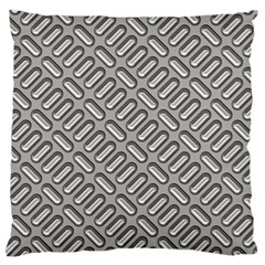 Grey Diamond Metal Texture Large Flano Cushion Case (two Sides) by BangZart