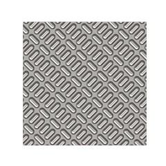 Grey Diamond Metal Texture Small Satin Scarf (square)
