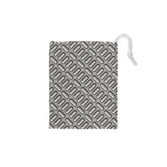 Grey Diamond Metal Texture Drawstring Pouches (xs)