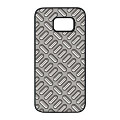 Grey Diamond Metal Texture Samsung Galaxy S7 Edge Black Seamless Case