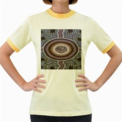 Spirit Of The Child Australian Aboriginal Art Women s Fitted Ringer T Shirts