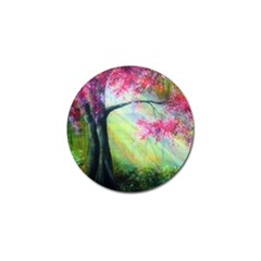 Forests Stunning Glimmer Paintings Sunlight Blooms Plants Love Seasons Traditional Art Flowers Sunsh Golf Ball Marker by BangZart