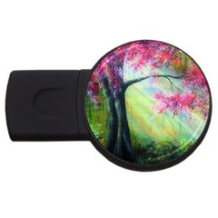 Forests Stunning Glimmer Paintings Sunlight Blooms Plants Love Seasons Traditional Art Flowers Sunsh Usb Flash Drive Round (2 Gb)