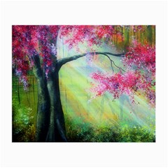 Forests Stunning Glimmer Paintings Sunlight Blooms Plants Love Seasons Traditional Art Flowers Sunsh Small Glasses Cloth