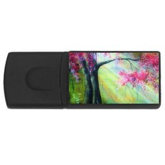 Forests Stunning Glimmer Paintings Sunlight Blooms Plants Love Seasons Traditional Art Flowers Sunsh Rectangular Usb Flash Drive by BangZart