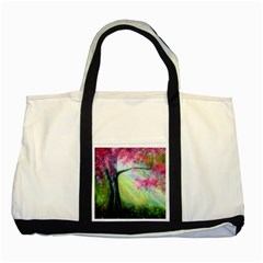 Forests Stunning Glimmer Paintings Sunlight Blooms Plants Love Seasons Traditional Art Flowers Sunsh Two Tone Tote Bag