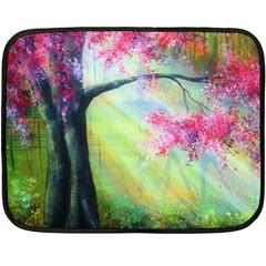 Forests Stunning Glimmer Paintings Sunlight Blooms Plants Love Seasons Traditional Art Flowers Sunsh Fleece Blanket (mini)