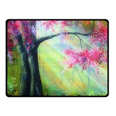 Forests Stunning Glimmer Paintings Sunlight Blooms Plants Love Seasons Traditional Art Flowers Sunsh Fleece Blanket (small)