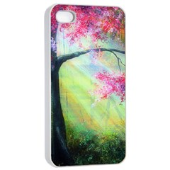 Forests Stunning Glimmer Paintings Sunlight Blooms Plants Love Seasons Traditional Art Flowers Sunsh Apple Iphone 4/4s Seamless Case (white)