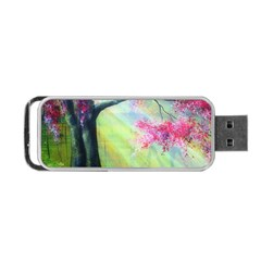 Forests Stunning Glimmer Paintings Sunlight Blooms Plants Love Seasons Traditional Art Flowers Sunsh Portable Usb Flash (two Sides)