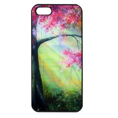 Forests Stunning Glimmer Paintings Sunlight Blooms Plants Love Seasons Traditional Art Flowers Sunsh Apple Iphone 5 Seamless Case (black) by BangZart