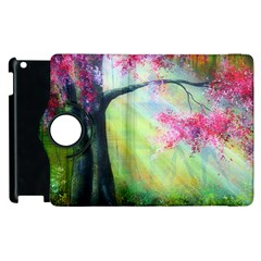 Forests Stunning Glimmer Paintings Sunlight Blooms Plants Love Seasons Traditional Art Flowers Sunsh Apple Ipad 2 Flip 360 Case