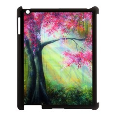Forests Stunning Glimmer Paintings Sunlight Blooms Plants Love Seasons Traditional Art Flowers Sunsh Apple Ipad 3/4 Case (black) by BangZart