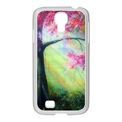 Forests Stunning Glimmer Paintings Sunlight Blooms Plants Love Seasons Traditional Art Flowers Sunsh Samsung Galaxy S4 I9500/ I9505 Case (white)