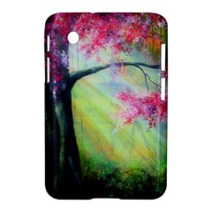 Forests Stunning Glimmer Paintings Sunlight Blooms Plants Love Seasons Traditional Art Flowers Sunsh Samsung Galaxy Tab 2 (7 ) P3100 Hardshell Case